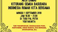 "Pesan damai untuk Papua digelar masyrakat Yogyakarta agar persatuan dan kesatuan terus terjaga di bumi NKRI. Lewat Aksi Damai ""Kitorang Semua Basudara Indonesia Rumah Kita Bersama"" (Yanuar H/ Widihasto)"