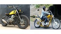 Motor modifikasi  Presiden Joko Widodo dan Menteri Ketenagakerjaan Hanif Dhakiri.