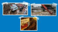 Banner Infografis Hujan Ekstrem dan Banjir, Sukabumi, Bogor, Jakarta. (Liputan6.com/Trieyasni)