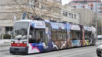 Branding pariwisata Indonesia tampak di transportasi umum kota Wina, Austria. (dok. Biro Komunikasi Kemenparekraf)