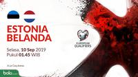 Kualifikasi Piala Eropa 2020 - Estonia Vs Belanda (Bola.com/Adreanus Titus)