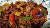 Ilustrasi cumi saus tiram (dok.YouTube/ My Kitchen Creations)