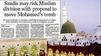 Laporan rencana pembongkaran makam Nabi Muhammad yang dimuat The Independent