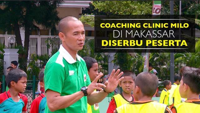 160 peserta serbu Coaching Clinic sepak bola bersama legenda Timnas Indonesia, Kurniawan Dwi Yulianto, yang digelar MILO di kota Makassar.