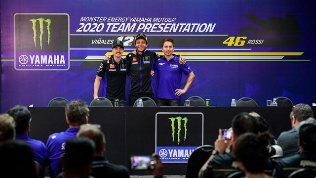 Maverick Vinales, Valentino Rossi, dan Jorge Lorenzo