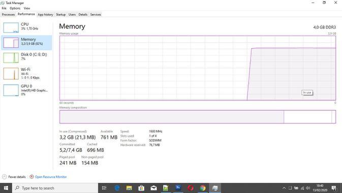 cara cek RAM di Windows 10. (Liputan6.com/ Yuslianson)