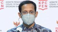 Mendikbud Nadiem Makarim menjelaskan keputusan membuka sekolah tatap muka harus mendapatkan keputusan bersama saat konferensi pers di Kantor Presiden, Jakarta, Rabu (25/11/2020). (Biro Pers Sekretariat Presiden)