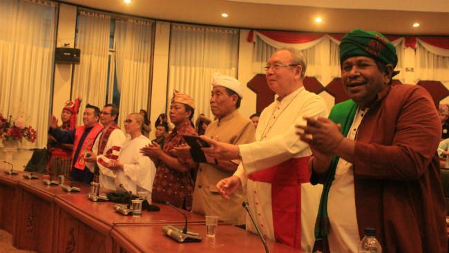 Festival Keragaman di Sulawesi Utara menampilkan kerukunan antar-umat beragama di Indonesia. (Liputan6.com/Yoseph Ikanubun)