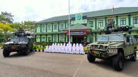 Penampakan alutsista baru yang diterima Batalyon Arhanud 14_PWY Cirebon. Foto (Liputan6.com / Panji Prayitno)