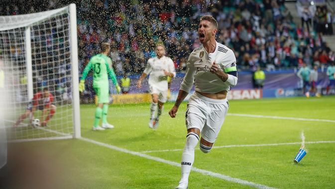 Sergio Ramos. (AP Photo/Pavel Golovkin)