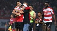 Madura United saat melawan Mitra Kukar di Stadion Gelora Ratu Pamelingan, Pamekasan (13/9/2018). (Bola.com/Aditya Wany)