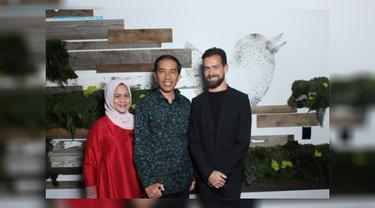 Jokowi, Iriana, CEO Twitter Jack Dorsey