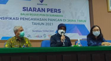 78,9 persen pangan yang beredar tanpa dilengkapi izin di Jawa Timur. (Dian Kurniawan/Liputan6.com)