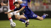 Giuseppe Rossi. Striker asal Italia ini didatangkan Manchester United dari tim muda Parma pada awal musim 2004/2005. Hanya tampil dalam total 14 laga dengan mencetak 4 gol hingga awal musim 2006/2007, akhirnya ia dipinjamkan ke Newcastle dan Parma hingga akhir musim. (AFP/Maartje Blijdenstein)