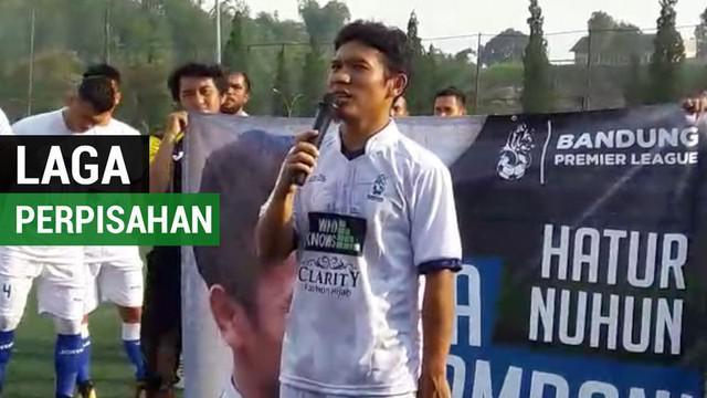 Berita video laga perpisahan mantan pemain Persib Bandung, Eka Ramdani, yang diramaikan beberapa bintang Liga 1.