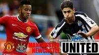 Manchester United vs Newcastle United (Liputan6.com/Ari Wicaksono)