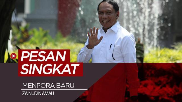 Berita video Presiden Republik Indonesia, Jokowi (Joko Widodo), memberi pesan yang singkat dan padat kepada Menpora yang baru, Zainudin Amali, saat acara perkenalan susunan kabinet Indonesia Maju, Rabu (23/10/2019).