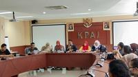 KPAI melakukan konferensi pers terkait remaja NF (15) yang membunuh seorang anak di Sawah Besar, Jakarta, pada Senin (9/3/2020) (Liputan6.com/Giovani Dio Prasasti)