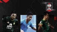 Rachmat Irianto, Hambali Tholib dan Samsul Arif. (Bola.com/Dody Iryawan)