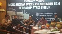 ACT menggelar diskusi tentang pelanggaran HAM terhadap etnis Uighur. (Merdeka.com)