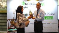 PT Bareksa Portal Investasi meluncurkan Bareksa Umroh. Platform Bareksa Umroh menawarkan layanan rencana simpanan di reksa dana syariah untuk membiayai perjalanan ibadah umrah. (Liputan6.com/Bawono Yadika Tulus)