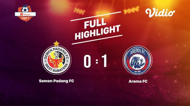 Laga lanjutan Shopee Liga 1, Semen Padang VS Arema  berakhir  0-1 #shopeeliga1 #semen padang #arema
