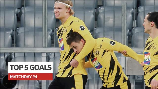 Berita video 5 gol terbaik yang tercipta pada pekan ke-24 Bundesliga 2020/2021, di mana dua torehan dari laga Der Klassiker masuk dalam daftar tersebut.