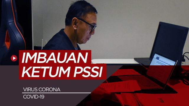 Berita motion grafis ketum PSSI, Mochamad Iriawan untuk lindungi diri dan keluarga dari Virus Corona / COVID-19.