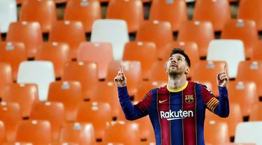 FOTO: Lionel Messi Borong 2 Gol, Barcelona Bungkam Valencia