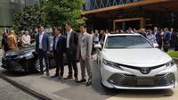 PT Toyota Astra Motor (TAM) membuka tahun baru dengan meluncurkan sedan terbarunya, all new Toyota Camry. (Arief Aszhari / Liputan6.com)