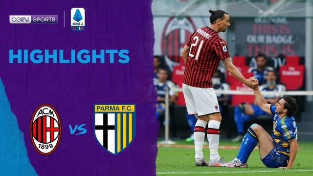 Berita Video Highlights Serie A, Hakan Calhanoglu Bawa Kemenangan AC Milan Atas Parma Calcio