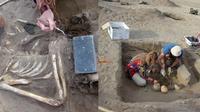 Mumi dikubur bersama dengan benda mirip dengan 'iPhone' (Foto: The Sun)