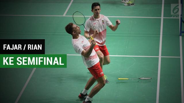Fajar Alfian / M Rian Ardianto masuk ke babak semifinal usai mengalahkan ganda putra Malaysia, Ong Yew Sin/Teo Ee Yi.