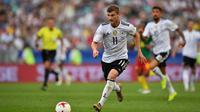 Striker tim nasional Jerman, Timo Werner. (AFP/Yuri Cortez)