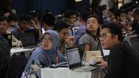 Sebanyak 600 mahasiswa mengikuti pelatihan keahlian komputasi awan di ITB, Rabu (17/10/2018). (Huyogo Simbolon)