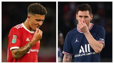 Kompetisi musim 2021/2022 di Eropa telah berjalan beberapa pekan dan dapat menjadi tolok ukur kemampuan pemain-pemain top Eropa dalam mencetak gol. Ada yang telah sukses mencetak banyak gol, namun ada pula yang belum sama sekali, seperti 5 pemain berikut ini. (Kolase AP dan AFP)