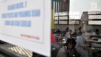 Sejumlah siswa SD mengerjakan soal Bahasa Indonesia saat Ujian Sekolah Berstandar Nasional (USBN) di SD Negeri Cipinang 03, Jakarta, Senin (22/4). Siswa SD sederajat menjalani USBN mulai hari ini hingga 24 April 2019 dengan tiga mata pelajaran yang diujikan. (merdeka.com/ Iqbal S. Nugroho)