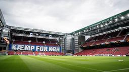 Di Stadion Parken ini nantinya akan menggelar empat laga, tiga di fase grup dan satu partai 16 besar. ( Mads Claus Rasmussen / Ritzau Scanpix / AFP)