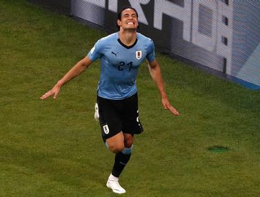Dua Gol Cavani Antar Uruguay Lolos 8 Besar Piala Dunia 2018