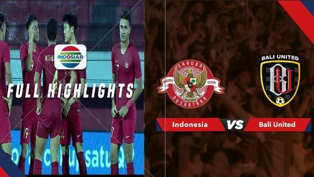 Berita video highlights laga uji coba Bali United melawan Timnas Indonesia U-23 yang berakhir dengan skor 0-0, Jumat (14/6/2019).