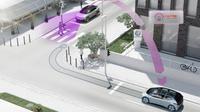 VW menghadirkan fitur keselamatan berupa teknologi pWLAN, dimana mobil bisa berbicara dengan mobil lainnya. (Carscoops)