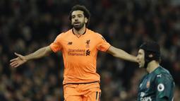 2. Mohamed Salah (Liverpool) - 15 Gol. (AP/Alastair Grant)