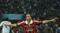 Zlatan Ibrahimovic AC Milan (GIUSEPPE CACACE / AFP)