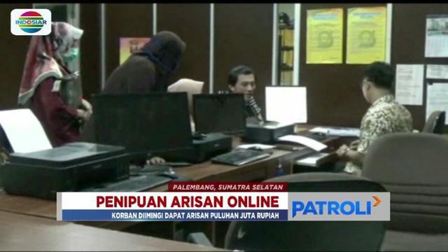 Puluhan mahasiswi dan ibu rumah tangga di Palembang, Sumatera Selatan, jadi korban penipuan arisan online melalui media sosial.