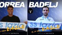 Lazio mendatangkan dua wajah baru, Milan Badelj dan Joaquin Correa, untuk memperkuat tim menghadapi musim depan. (Twitter Lazio)