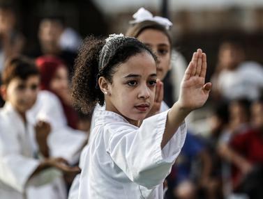 Intip Anak-Anak Palestina Berlatih Karate
