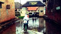 Banjir rob di pantura Kabupaten Pekalongan, Jateng. (Liputan6.com/Fajar Eko Nugroho)