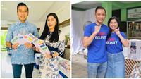 Edhie Baskoro Yudhoyono dan Aliya Rajasa-Agus Harimukti Yudhoyono (AHY) dan Annisa Pohan saat melakukan pencoblosan di Pemilu 2019. (dok. Instagram @ibasyudhoyono/https://www.instagram.com/p/BwV5F3_F3-j/ Bintang Radityo)