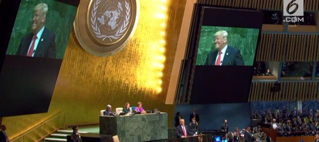 Para pemimpin dunia yang menghadiri sidang Majelis Umum Perserikatan Bangsa-Bangsa (PBB), Selasa (25/9), tertawa ketika Presiden Amerika Serikat, Donald Trump, membanggakan pencapaian pemerintahannya.