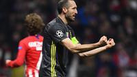 5. Giorgio Chiellini (Juventus) - 34 tahun, 10 juta euro (AFP/Gabriel Bouys)